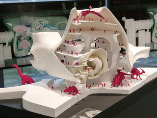A model of a section of a futuritstic Museum of Natural History in New York