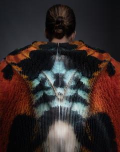 Image of model wearing 3D printed jacket