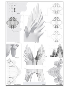Drawings of work for Amman Design Week Columns to Crowns