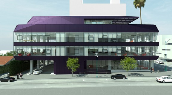 Rendering of exterior of 9000 Wilshire, a 32,000 sf office building.