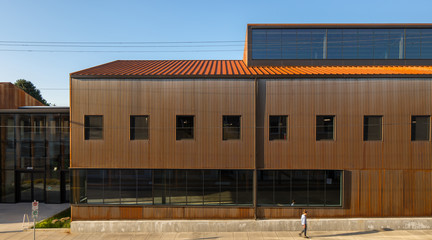 Image of a building facade of an industrial warehouse