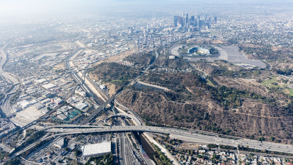 Aerial view of Los Angeles