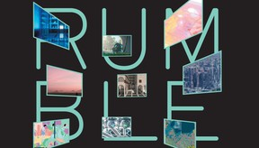 Small images of studio projects, participating in Rumble 2021