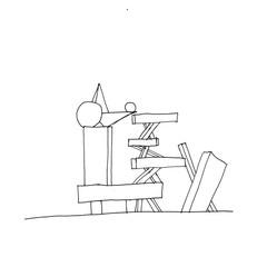 Hand-drawn elevation.