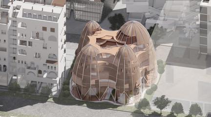 Rendering of a vertical prototype city