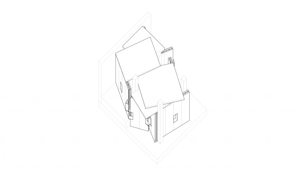 Axonometric drawing of overall building