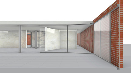 Rendered perspective from exterior.